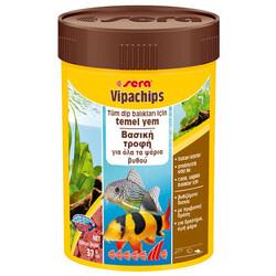 Sera - Sera 0514 Vipachips Tablet Dip Sularda Yaşayan Balık Yemi 100 ML
