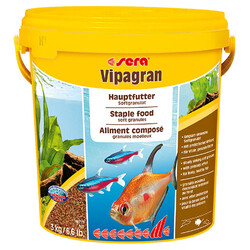 Sera - Sera Vipagran Süs Balıkları İçin Granül Temel Balık Kova Yemi 10 Lt (3 Kg)
