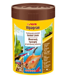 Sera - Sera Vipagran Süs Balıkları İçin Granül Temel Balık Yemi 100 ML (30 Gr)