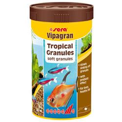 Sera - Sera Vipagran Süs Balıkları İçin Granül Temel Balık Yemi 250 ML (80 Gr)