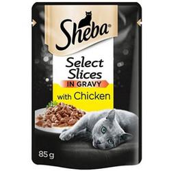 Sheba - Sheba Chicken Pouch Gravy Soslu Tavuk Etli Kedi Yaş Maması 85 Gr