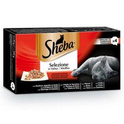 Sheba - Sheba Etli Seçenekler Pouch Kedi Yaş Maması 85 Gr - (4 Adet x 85 Gr) - 13 Adet