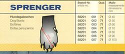 Sprenger - Sprenger Siyah Kauçuk Köpek Botu Ø100mm