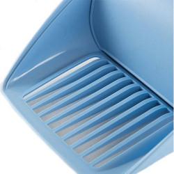 Stefanplast 400129 Twice Izgaralı Kedi Kum Küreği (Mavi) - Thumbnail