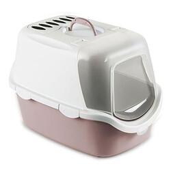 Stefanplast - Stefanplast 98648 Cathy Easy Clean Kapalı Filtreli Kedi Tuvaleti-(Soft Pembe)