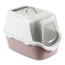 Stefanplast - Stefanplast 98648 Cathy Easy Clean Kapalı Filtreli Kedi Tuvaleti - ( Soft Pembe )