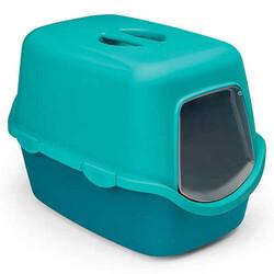 Stefanplast - Stefanplast 98650 Cathy Niagara Mavisi Kapalı Filtresiz Kedi Tuvaleti 56 x 40 x 40 Cm