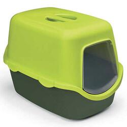 Stefanplast - Stefanplast 98651 Cathy Çam Yeşili Kapalı Filtresiz Kedi Tuvaleti 56x40x40 Cm