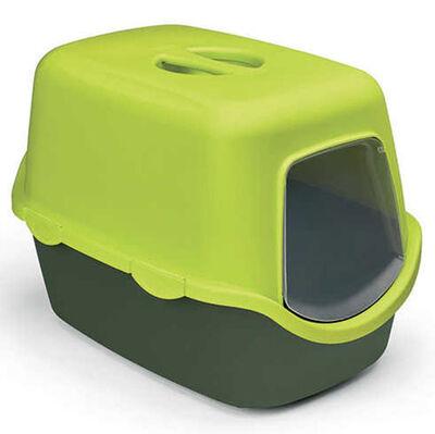 Stefanplast 98651 Cathy Çam Yeşili Kapalı Filtresiz Kedi Tuvaleti 56 x 40 x 40 Cm