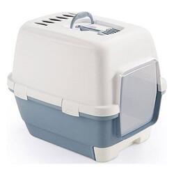 Stefanplast - Stefanplast 98708 Cathy Clever Çekmeceli Kapalı Kedi Tuvaleti-(Çelik Mavi)