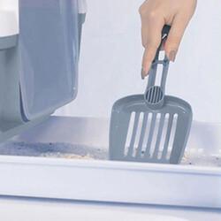 Stefanplast 98708 Cathy Clever Çekmeceli Kapalı Kedi Tuvaleti - ( Çelik Mavi ) - Thumbnail