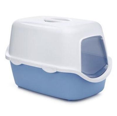 Stefanplast Cathy Açık Mavi Kapalı Filtresiz Kedi Tuvaleti 56 x 40 x 40 Cm