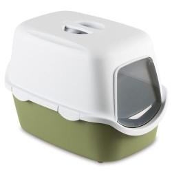 Stefanplast - Stefanplast Cathy Petrol Yeşili Kapalı Filtresiz Kedi Tuvaleti 56x40x40 Cm