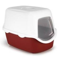 Stefanplast - Stefanplast Cathy Bordo Kapalı Filtresiz Kedi Tuvaleti 56x40x40 Cm