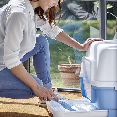 Stefanplast Cathy Clever Çekmeceli Kapalı Kedi Tuvaleti Petrol Yeşili