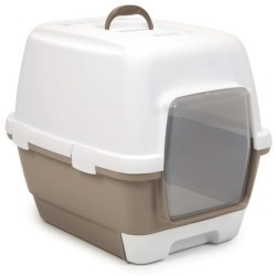 Stefanplast - Stefanplast Cathy Clever Çekmeceli Kapalı Kedi Tuvaleti Bej