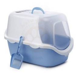 Stefanplast - Stefanplast Cathy Easy Clean Kapalı Filtreli Kedi Tuvaleti Turkuaz