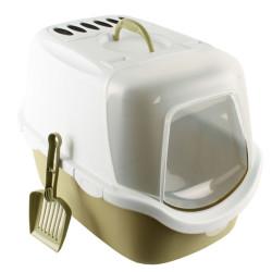 Stefanplast - Stefanplast Cathy Easy Clean Kapalı Filtreli Kedi Tuvaleti Yeşil