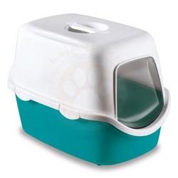 Stefanplast - Stefanplast Cathy Turkuaz Kapalı Filtresiz Kedi Tuvaleti 56 x 40 x 40 Cm