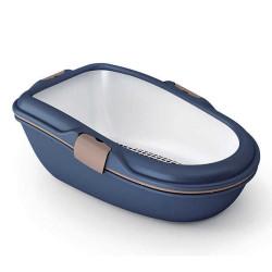 Stefanplast - Stefanplast Furba Elekli Açık Kedi Tuvaleti Deniz Mavisi Large 69,5 x 47 x 26 Cm