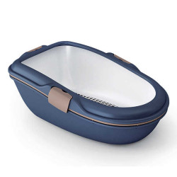 Stefanplast - Stefanplast Furba Elekli Açık Kedi Tuvaleti Deniz Mavisi Large 69,5x47x26 Cm