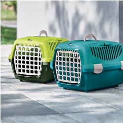 Stefanplast Gulliver 1 Küçük Irk Köpek ve Kedi Taşıma Kafesi (Açık Mavi) - Thumbnail