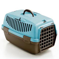 Stefanplast - Stefanplast Gulliver 1 Küçük Irk Köpek ve Kedi Taşıma Kafesi (Açık Mavi)