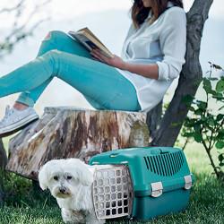 Stefanplast Gulliver 1 Küçük Irk Köpek ve Kedi Taşıma Kafesi (Fıstık Yeşili) - Thumbnail