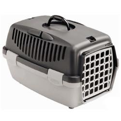 Stefanplast - Stefanplast Gulliver 1 Küçük Irk Köpek ve Kedi Taşıma Kafesi (Gri)