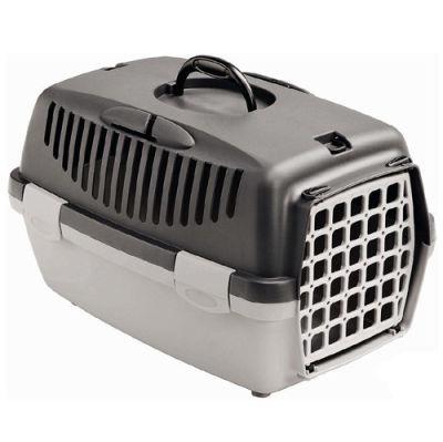 Stefanplast Gulliver 1 Küçük Irk Köpek ve Kedi Taşıma Kafesi (Gri)