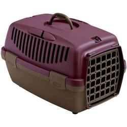 Stefanplast - Stefanplast Gulliver 1 Küçük Irk Köpek ve Kedi Taşıma Kafesi (Mor)