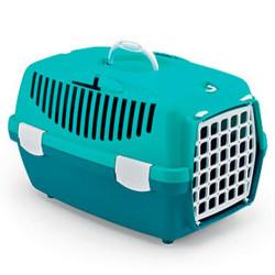 Stefanplast - Stefanplast Gulliver 1 Küçük Irk Köpek ve Kedi Taşıma Kafesi (Turkuaz)