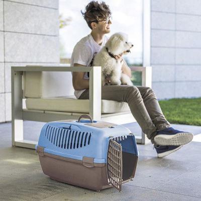 Stefanplast Gulliver 2 Küçük Irk Köpek ve Kedi Taşıma Kafesi (Açık Mavi)