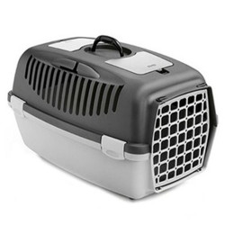 Stefanplast - Stefanplast Gulliver 2 Küçük Irk Köpek ve Kedi Taşıma Kafesi (Gri)