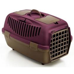 Stefanplast - Stefanplast Gulliver 2 Küçük Irk Köpek ve Kedi Taşıma Kafesi (Mor)