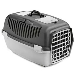 Stefanplast - Stefanplast Gulliver 3 Küçük Irk Köpek ve Kedi Taşıma Kafesi (Gri)