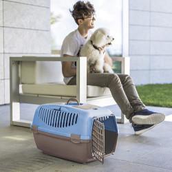 Stefanplast Gulliver 3 Küçük Irk Köpek ve Kedi Taşıma Kafesi (Gri) - Thumbnail