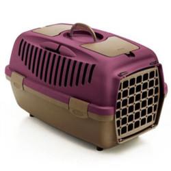 Stefanplast - Stefanplast Gulliver 3 Küçük Irk Köpek ve Kedi Taşıma Kafesi (Mor)