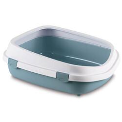 Stefanplast - Stefanplast Queen Large Açık Büyük Boy Kedi Tuvaleti ( Çelik Mavi )
