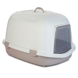 Stefanplast - Stefanplast Super Queen Large Kapalı Büyük Boy Kedi Tuvaleti ( Soft Pembe )