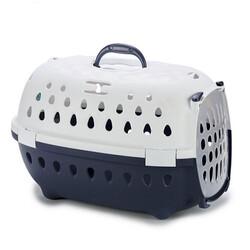 Stefanplast Travel Chic Küçük Irk Köpek ve Kedi Taşıma Kafesi (Lacivert) - Thumbnail