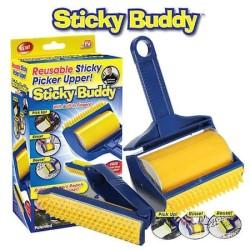 Diğer / Other - Sticky Buddy Kedi ve Köpekler için Yıkanabilir Tüy Toplama Rulosu ve Tarağı