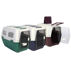 Strong Cage - Strong Cage Tekerlekli Köpek Taşıma Kafesi 82x52x60 Cm (Bordo)