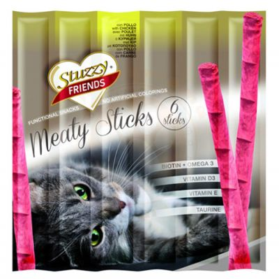 Stuzzy Friends Chicken Tavuk Etli Sticks Kedi Ödülü 6 x 5 Gr