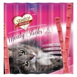 Stuzzy - Stuzzy Friends Manzo Sığır Etli Sticks Kedi Ödülü 6 x 5 Gr