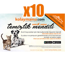 Tek Kullanımlık Evcil Hayvan Temizlik Mendili - 10 Adet - Thumbnail