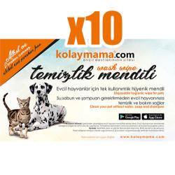 KolayMama - Tek Kullanımlık Evcil Hayvan Temizlik Mendili - 10 Adet