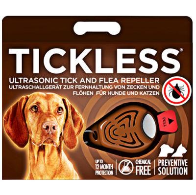 Tickless Ultrasonic Pet Kedi ve Köpek Bit Pire Uzaklaştırıcı Aparat (Kahverengi)