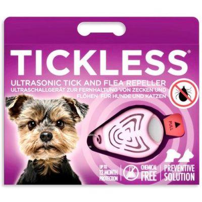 Tickless Ultrasonic Pet Kedi ve Köpek Bit Pire Uzaklaştırıcı Aparat (Pembe)