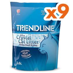 Trendline - Trendline Tozsuz Silika Kedi Kumu 3.6 Lt-(9 Adet)